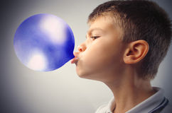 Blue bubble stock image