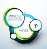 Blue bubble abstract banner Stock Photo