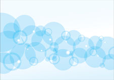 Blue Bubble Background Stock Image