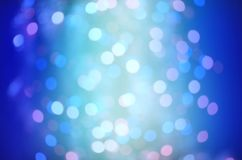 Blue bubble background. Blue bokeh  light backgrounds. Royalty Free Stock Photo
