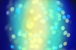 Blue bubble background. Blue bokeh  light backgrounds. Royalty Free Stock Image