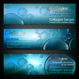 Blue Bubble Banners Stock Image