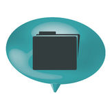 Blue bubble file icon. Illustration design Royalty Free Stock Photography