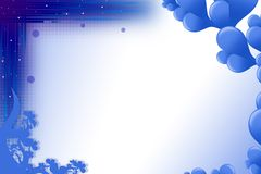 Blue bubble left side, abstract background Royalty Free Stock Images