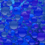 Blue Bubble Mania. Shades of blue and bubbles galore in this blue bubble explosion Stock Photo