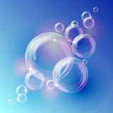 Blue bubble vector background Royalty Free Stock Photo
