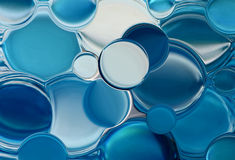 Blue bubbles royalty free stock photography