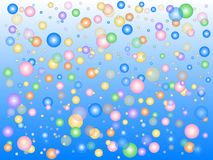 Blue Bubbles Stock Photo
