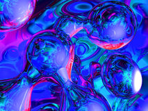 Blue bubbles. 3d artwork Stock Photo