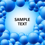 Blue bubbles abstract vector background Royalty Free Stock Photos