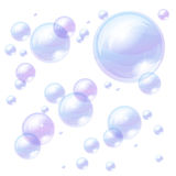 Blue bubbles background Royalty Free Stock Photos