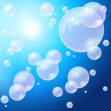 Blue bubbles background, Stock Image