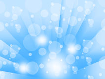 Blue Bubbles Background Means Glowing Circles And Beams Stock Images