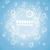 Blue bubbles background Stock Photography