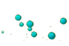 Blue bubbles Stock Images