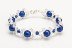 Blue bubbles bracelet with swarovski crystals  Stock Photography