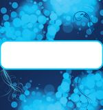 Blue bubbles copyspace background Stock Image