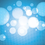 Blue Bubbles Pattern - Vector Background Royalty Free Stock Image