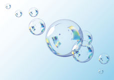 Blue Bubbles.  Scalable Vector EPS10 Illustration. Stock Photography
