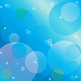Blue Bubbles and Stars Background Royalty Free Stock Photography