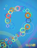 Blue bubbles vert back eps 10(84). A background . Can be recolored or scaled without problems and quality loss Royalty Free Illustration