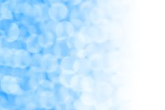 Blue Bubbly Bokeh Background Stock Images