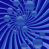 Blue bubbly swirling vortex Royalty Free Stock Photography