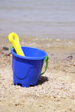 Blue bucket Stock Photo
