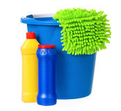 Blue bucket Stock Image