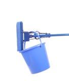 Blue bucket with sponge mop. Stock Photography