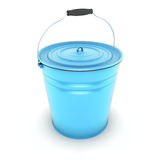 Blue bucket Stock Photos