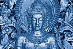 Blue Buddha royalty free stock photo