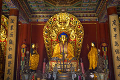 Blue Buddha Altar Yonghe Gong Temple Beijing Stock Photos