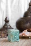 Blue Buddha Aroma Lamp royalty free stock photo