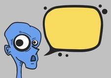 Blue bug talk Royalty Free Stock Photography