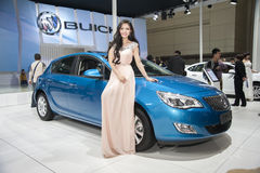 Blue buick excelle xt car Royalty Free Stock Photography