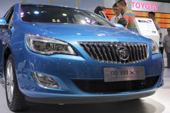 Blue buick excelle xt car Stock Image