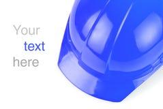 Blue build helmet Stock Image