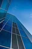 Blue building. Fragment of a glass building with sky Stock Photo