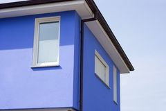 Blue building Stock Images