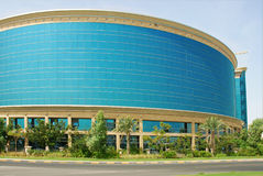 Blue building. A blue office building in Ajman Free Zone Royalty Free Stock Photo