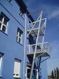 Blue building 3. Blue building against the blue sky Royalty Free Stock Photos