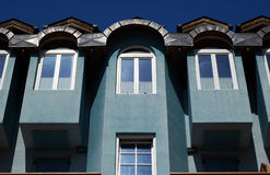 Blue building. A suggestive building in val di peio, trentino Royalty Free Stock Photo