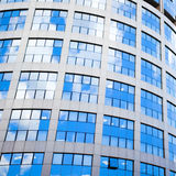 Blue building abstract details Stock Photography