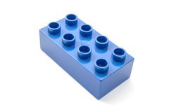 Blue building blocks Stock Photos