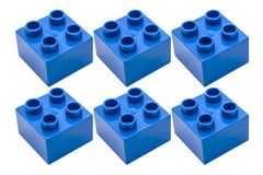 Blue building blocks Stock Image