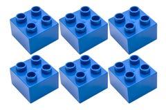 Blue building blocks Stock Image