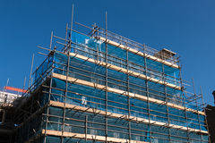 Blue Building Construction. Building Construction Site with the Blue Sky stock photography