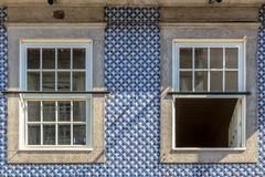 Blue Building Decoration Stock Images