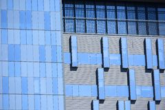 Blue building Royalty Free Stock Images
